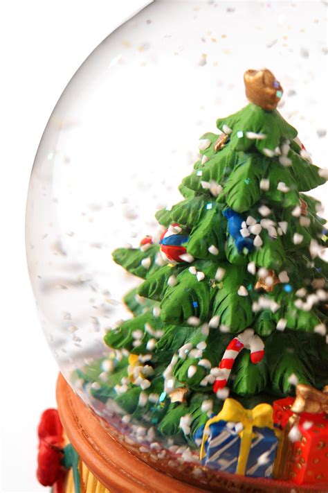 Broken snow globe? There may be more than water inside