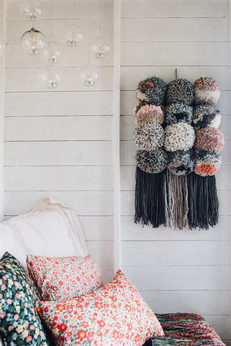 FAVOURITE MAKE - GIANT POM POM WALL HANGING - Lobster and Swan
