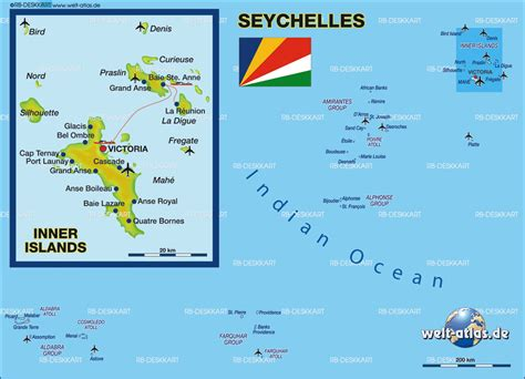 Map of Seychelles - Map in the Atlas of the World - World