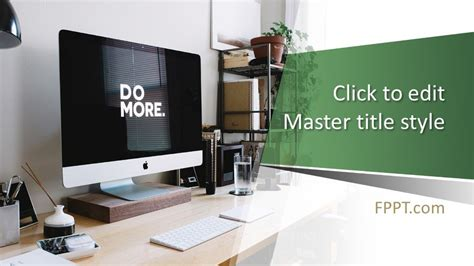 Free Freelance Workspace PowerPoint Template - Free