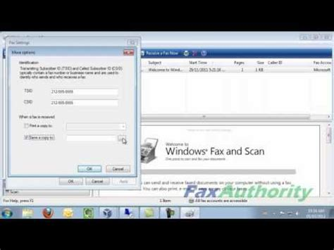 Configuring Windows Fax and Scan in Windows 7 and Windows