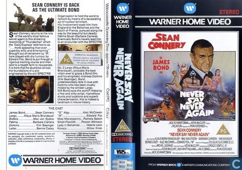 Never Say Never Again - VHS video tape - Catawiki