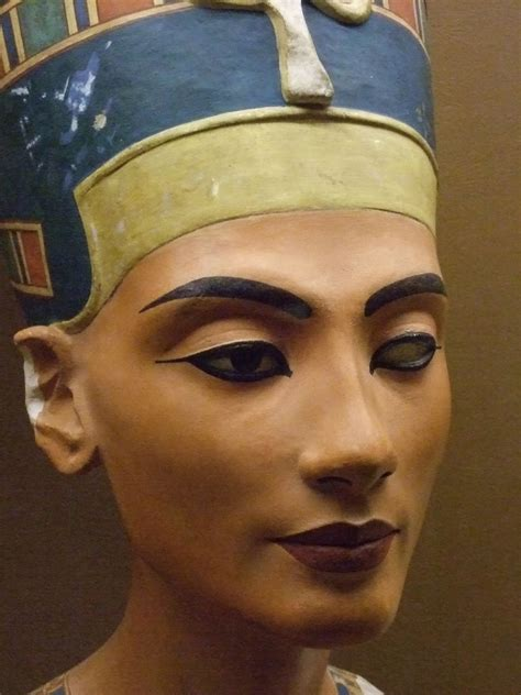 Replica of the bust of Queen Nefertiti 18th Dynasty Egypt