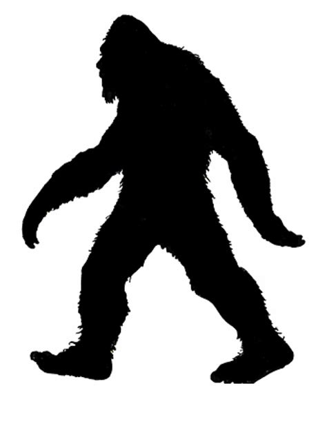 Train to draw Bigfoot outline - Draw it yourself! 🖌